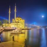 Ortakoy mosque and Bosphorus Bridge Istanbul Royalty Free Stock Photography