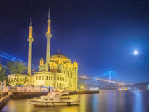 Ortakoy mosque and Bosphorus Bridge Istanbul Stock Photography