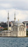 Ortakoy mosque from bosphorus Royalty Free Stock Photography