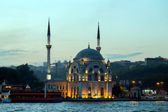 Ortakoy mosque Bosphorus Royalty Free Stock Photo