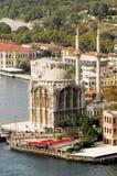 Ortakoy Mosque - bosporus - istanbul. Ortakoy mosque view from bosporus bridge in istanbul Stock Image