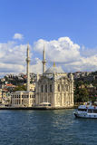 Ortakoy mosque on European side,Istanbul, Turkey. Stock Photo