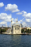 Ortakoy mosque on European side,Istanbul, Turkey. Stock Photography