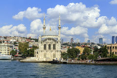 Ortakoy mosque on European side,Istanbul, Turkey. Royalty Free Stock Photography