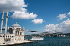 Ortakoy Mosque at Istanbul - 2014 Royalty Free Stock Image