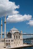 Ortakoy Mosque at Istanbul - 2014 Royalty Free Stock Photos