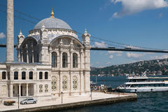 Ortakoy Mosque at Istanbul - 2014 Stock Photography
