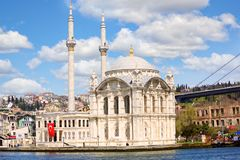 Ortakoy Mosque in Istanbul Stock Photos