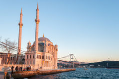 The Ortakoy Mosque in Istanbul Stock Photo