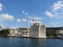 The Ortakoy mosque in Istanbul royalty free stock photo