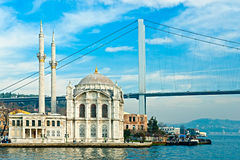 Ortakoy mosque,  Istanbul, Turkey. Stock Photography