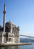 Ortakoy Mosque, Istanbul, Turkey. '''Ortakoy Mosque''', officially the '''Buyuk Mecidiye Camii''' in Istanbul, is situated at the waterside of the OrtakOy pier Stock Photography