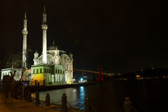 Ortakoy mosque in Istanbul Turkey Stock Images