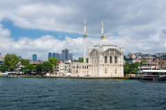 Ortakoy Mosque in Istanbul. ISTANBUL, TURKEY - JUNE 25, 2015: Ortakoy Mosque Grand Imperial Mosque of Sultan Abdulmecid in Istanbul, Turkey, is situated at the Royalty Free Stock Images