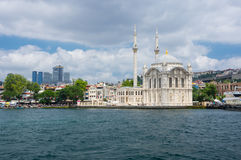 Ortakoy Mosque in Istanbul. ISTANBUL, TURKEY - JUNE 25, 2015: Ortakoy Mosque Grand Imperial Mosque of Sultan Abdulmecid in Istanbul, Turkey, is situated at the Stock Image