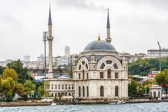 The Ortakoy mosque stock photography