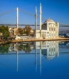 Ortakoy Mosque in Istanbul. Royalty Free Stock Photography