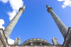 Ortakoy Mosque Minarets Stock Image