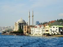 Ortakoy Mosquee bosphorus istanbul индюк Стоковая Фотография RF