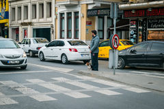 Ortakoy street traffic in Istanbul, Turkey Stock Images