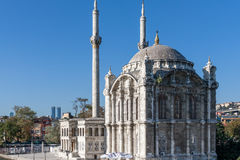 Ortakoymoskee op Bosphorus, Istambul Stock Fotografie