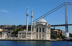 Ortaköy Mosque Sideview Stock Image