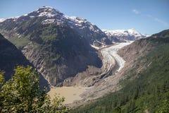 Orteil, lac et arêtes de Salmon Glacier de moraine, Stewart, AVANT JÉSUS CHRIST Photos libres de droits