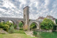Orthez - Bridge over river Gave de Pau in France Royalty Free Stock Image