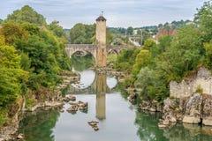 Orthez - Bridge over river Gave de Pau in France Stock Image