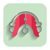 Orthodontic konsol för tandhållarstag Tand- plan symbol vektor illustrationer