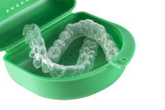 Orthodontic Retainers. Mouth Guard - Orthodontic Retainers isolated on white Royalty Free Stock Image