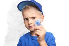 Orthodontics, μικρό παιδί με τα στηρίγματα στοκ φωτογραφία