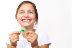 Orthodontics, beautiful smile. Royalty Free Stock Images