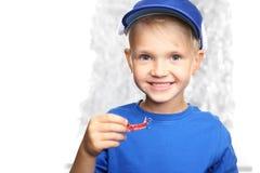 Orthodontics for children, preschool with braces Royalty Free Stock Photo