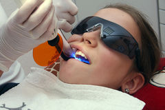 At the orthodontist Stock Image