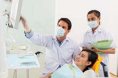 At orthodontist Royalty Free Stock Photography