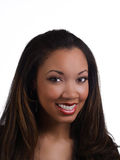 Orthodontistklammern schwarze Frau des Portraits junge Lizenzfreie Stockfotos