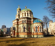 Orthodox Alexander Nevsky Cathedral. One of the nineteenth century historic attractions of the city Stock Photography