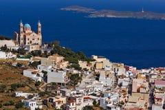 Orthodox Anastaseos church, Ermopoli, Syros, Greece Royalty Free Stock Image