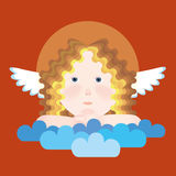 Orthodox angel on clouds Stock Photos
