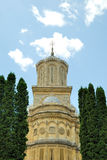 Orthodox art masterpiece. Curtea de Arges monastery in Romania with beautiful architecture Stock Photo