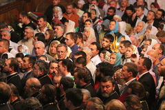 Orthodox Believers stock image