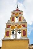 Orthodox bell tower in Corfu Island Royalty Free Stock Photo