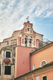 Orthodox bell tower in Corfu Island Royalty Free Stock Image