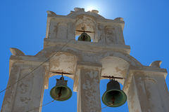 Orthodox Bell Tower In Santorini Island, Greece Stock Photography