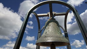 Orthodox bells. New Jerusalem in town Istra, surroundings of Moscow, Russia stock footage