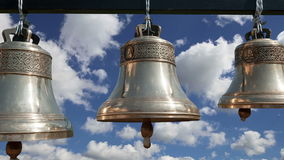 Orthodox bells. New Jerusalem in town Istra, surroundings of Moscow, Russia stock video footage