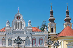 Orthodox bishop residence and serbian church in Timisoara, Roman Royalty Free Stock Photo