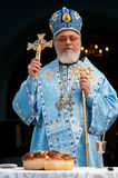 Orthodox Bishop During Service Stock Photos
