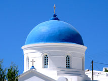 Orthodox blue dome church Royalty Free Stock Photos